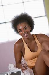 blkwoman exercising