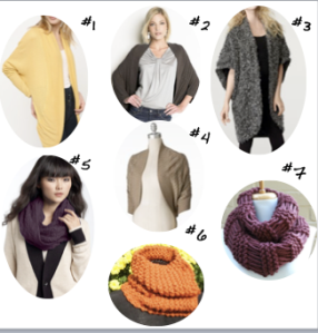 Cocoon Sweaters and Knit Scarves